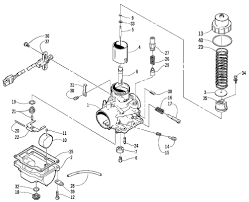 arctic cat snowmobile z570 carburetor schematic diagram