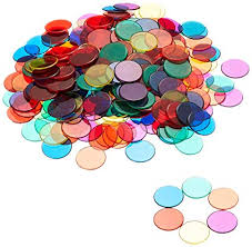 Learning Resources <b>Transparent</b> Counters (6 Colours): Amazon.co ...