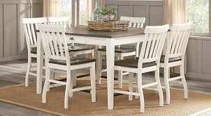 keston white 5 pc square counter height dining room in table design