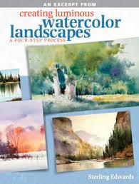 landscape free free watercolor landscape tutorials rivets light more