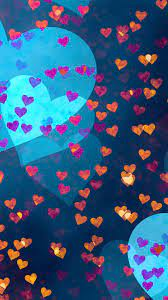 Love Hearts Pattern 4K Ultra HD Mobile ...