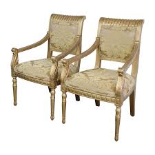 accent chairs for cheap. Buy Rustic Gold Upholstered Arm Accent Chairs For Cheap