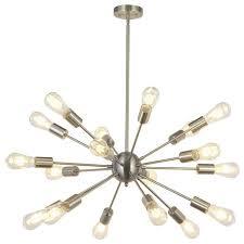 modern sputnik chandelier lighting 18 lights brushed nickel