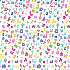 Abc Pattern Custom Seamless Pattern Of The Abc Bubble Letters Stock Vector Colourbox