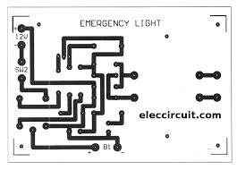 cheap emergency light circuit using d313 eleccircuit com pcb of cheap emergency lights using d0313