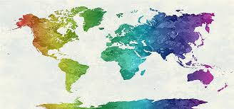 Map Of The World Background Background Color Poster Map Of The World Map World Geography