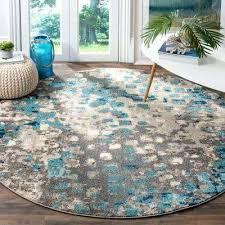 round turquoise rug round area rug