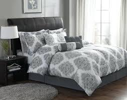 white and silver comforter set elegant bedroom with gray damask bedding ideas sets black