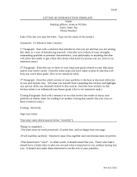 Letter Of Introduction How To Write An Introduction Letter