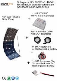 100w 12v flexible solar panel kit 100w 12v flexible solar panel kit