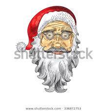 vintage santa claus face clipart. Delighful Clipart Santa Claus Face Color Icon Greeting Card Retro Clip Art Concept  Illustration In Vintage Face Clipart