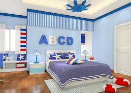 American boys bedroom interior design 3D