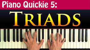 Diminished Chord Chart Piano Piano Quickie 5 Constructing Triads Major Minor Augmented And Diminished Chords