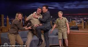 steve irwin son jimmy fallon. \u0027she\u0027s trying to kill me!\u0027two assistants had rush on stage and steve irwin son jimmy fallon i