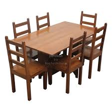 six seater dinning table set in teak wood twd details bic cherry kitchen sets six