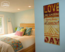 Colorful Master Bedroom Almost Free Create A Bedroom You Love On A Budget The Happy Housie