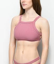 Malibu Dream Girl Swimwear Size Chart Malibu Mauve Ribbed High Neck Bikini Top