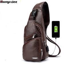 home products men s cross bags men s usb chest bag designer messenger bag leather shoulder