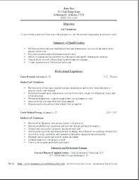 Medical Lab Technician Resume Awesome Chemistry Lab Technician Resume Sample Analyst Resume Lab Skills