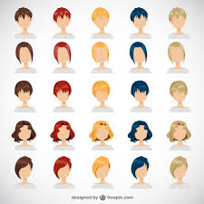 women hairstyles free vector