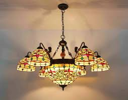 tiffany chandelier stained glass