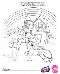 Small Picture My Little Pony Coloring Book Pages Applejack Apple Bloom Mlp Kids