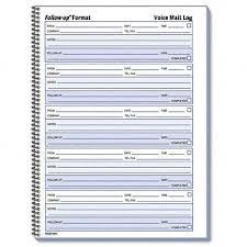 Phone Message Log Book Rediform Office Products Voice Mail Wirebound Log Book 500