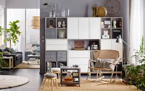 ... Wall Units, Shelving Units Living Room Living Room Storage Cabinets  White Cabinet With Grey Drawer ...