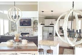 white orb chandelier wood sphere chandelier mini distressed