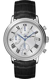raymond weil 7737 stc 00659 mens maestro leather strap automatic raymond weil 7737 stc 00659 mens maestro leather strap automatic chronograph watch