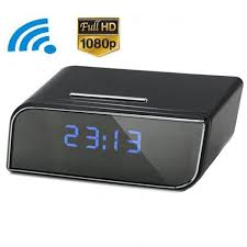 1080p wifi alarm clock motion detection night vision recorder security camcorder dvr