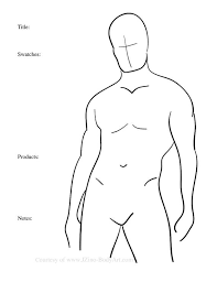 Body Chart 7 Male Body Paint Charts Body Templates For Body Painters