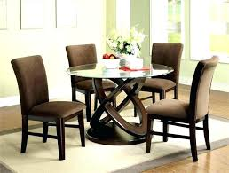 elegant round glass top dining table tables set 5 piece kitchen appealing s