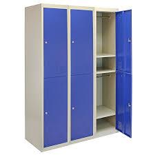 school gym doors. MonsterShop Metal Lockers 3 X 2 Doors Storage, Flatpack Blue \u0026 Grey Lockable Unit School Gym
