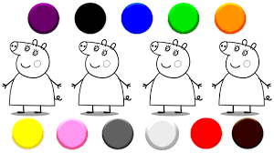 Small Picture Learn Colors with Mummy Pig Coloring Video For Kids YouTube