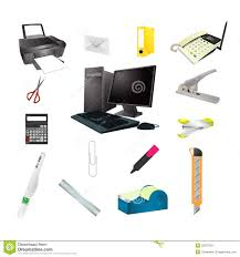 Office Tools Realistic Icon Set Royalty Free Stock Images - Image ...