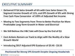 pentair inc q results earnings call slides pentair  pentair inc 2016 q4 results earnings call slides