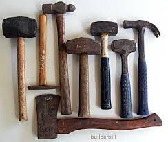 vintage hand tools. hammers. vintage toolsvintage hand tools