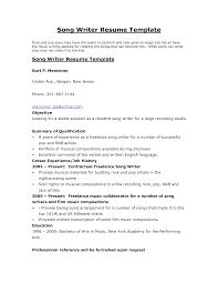 ... Resume format for Freelance Writer Inspirational Author Resume ...