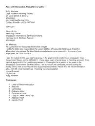cover letter help accounts receivable analyst cover letter