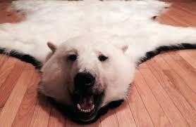 polar bear rug faux skin with head rugs