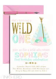 Print Birthday Invitation Wild One Birthday Invitation Boho Birthday Invitation Feather Tribal Arrow Printable Birthday Party Invite
