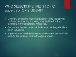 writing md thesis for postgraduate medical student 4 who selects the thesis topic