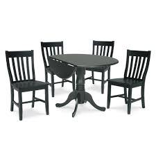 international concepts 3 piece black dining set