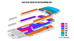 Pikes Peak Performing Arts Center Seating Chart Pikes Peak Center Seating Chart Seating Chart