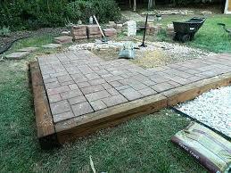 diy stone patio ideas great easy patio ideas patio brick patterns brick patio diy natural stone