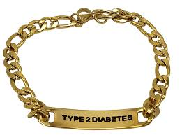 Gents Gold Bracelet Design Jgfinds Type 2 Diabetes Medical Alert Engraved Gold Over Stainless Steel Bracelet 8 Inch