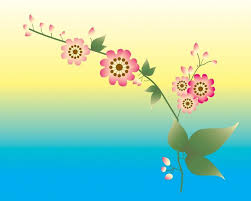 Flower Powerpoint Blue Yellow Pink Flower Backgrounds Ppt Backgrounds Templates