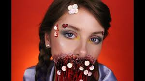 gory candy makeup look tina yu art inspired easy affordable