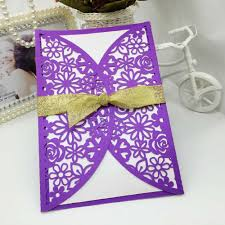 purple and gold wedding invitations 3d pop up wedding invitation cards elegant with gold